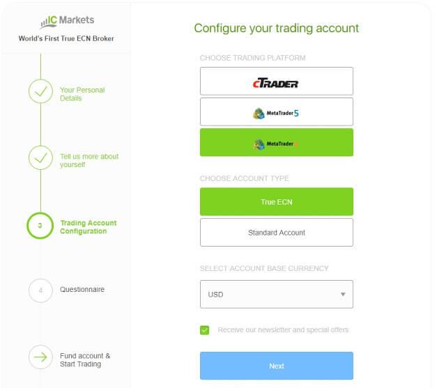 Hướng dẫn mở tài khoản forex tại IC Markets