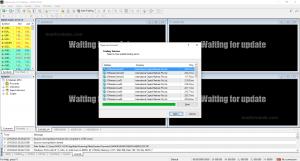 giao diện của phần mềm MT4