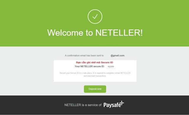 Tạo ví Neteller